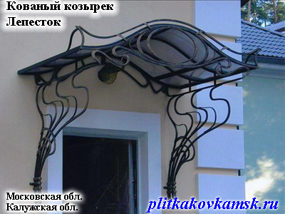 Кованый козырек Лепесток