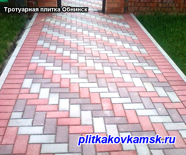 Пример укладки тротуарной плитки в Обнинске  Жуковский район Калужская обл.