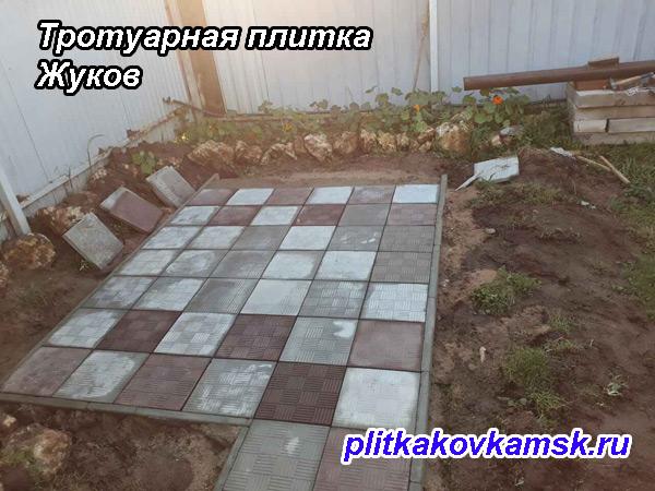 Укладка тротуарной плитки парткет в городе Жуков