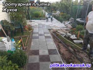 Тротуарная плитка парткет город Жуков