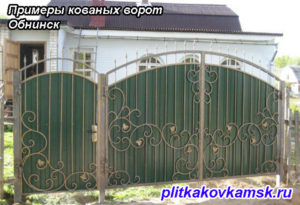 Примеры кованых ворот Обнинск