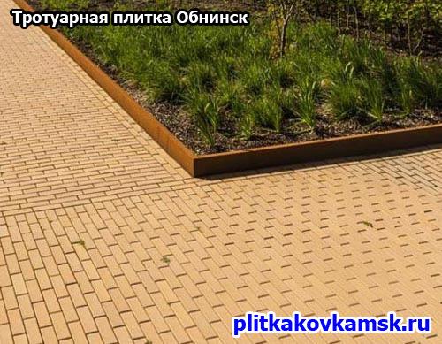 Укладка тротуарной плитки Кирпич в Обнинске