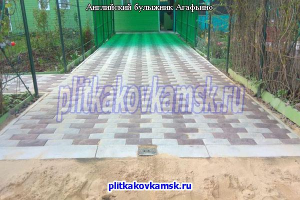 Укладка тротуарной плитки Английский Булыжник в деревне Агафьино