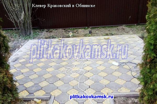 Укладка Краковского Клевера для зоны барбекю