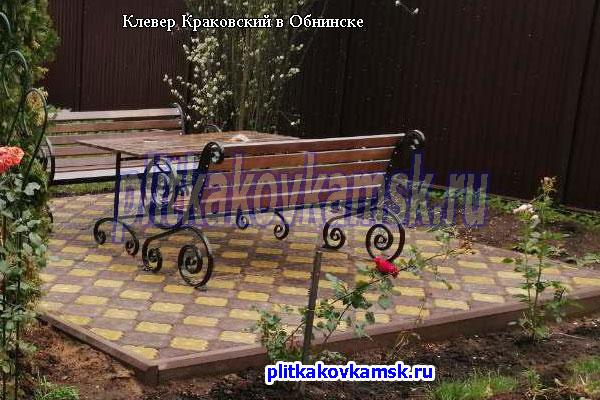 Производство и укладка тротуарной плитки Клевер Краковский в Жуковском районе Калужской области