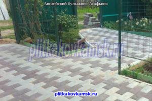 Укладка тротуарной плитки Английский Булыжник в деревне Агафьино (Жуковский район Калужской области)