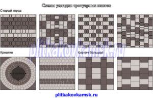 Схемы для укладки основных видов тротуарных плиток