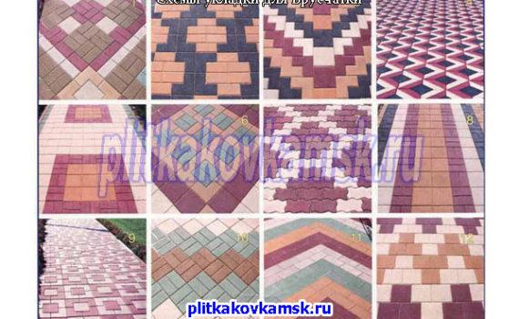 Схемы укладки тротуарной плитки Брусчатка